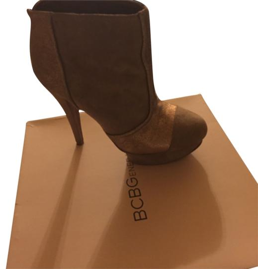 BCBGeneration Taupe suede with bronze metalic Boots