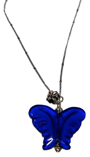 Preload https://img-static.tradesy.com/item/10440391/blue-silver-cobalt-stone-butterfly-pendant-sterling-a072-necklace-0-2-540-540.jpg