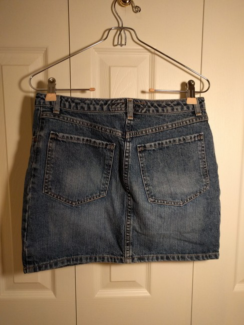 French Connection Jean Mini Skirt Denim