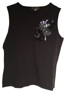 Banana Republic Sequin Sleeveless Tank Top Black