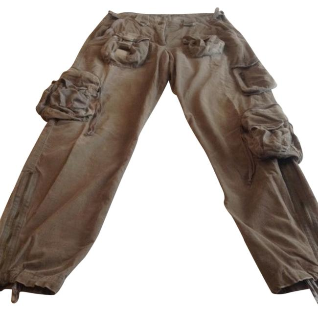 Item - Green Distressed Cargo Jeans Size 28 (4, S)