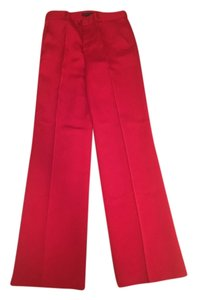 Ralph Lauren Wide Leg Pants Satin Red