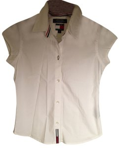 Tommy Hilfiger Collar Shirt Shirt Nautical Polo Button Down Shirt White