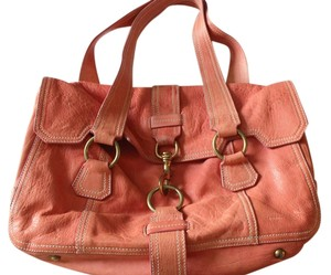 Miu Miu Vintage Leather Coral Handbag Tote