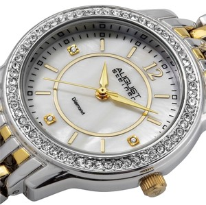 August Steiner (REDUCED) New in box! Diamond and Mother of Pearl August Steiner Ladies Two-tone Watch