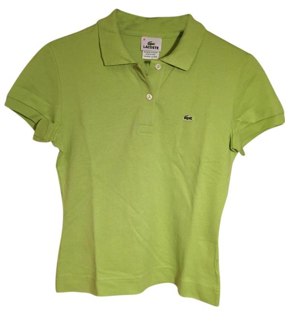 Preload https://img-static.tradesy.com/item/10441792/lacoste-olive-green-pique-cotton-collared-polo-button-down-top-size-2-xs-0-1-650-650.jpg