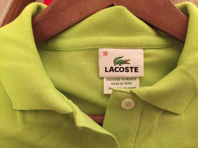 Lacoste Pique Cotton Collar Polo Button Down Shirt Olive green