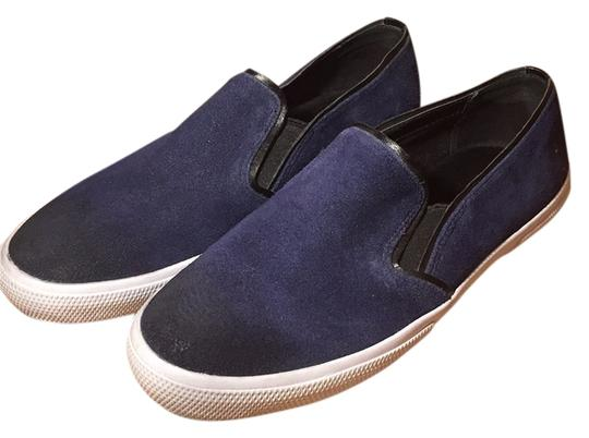 Kenneth Cole Reaction Slip On Sneakers Suede Navy Blue Flats