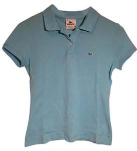Lacoste Pique Cotton Collared Polo Button Down Shirt Sky blue