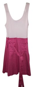 Theory short dress Pink and white on Tradesy