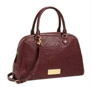 Marc by Marc Jacobs Lambskin Zipper Leather New Handle Washed Up Lauren Satchel in Brown