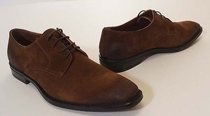 Mike Konos 52615 Mens Sigar Tan Brown Suede Leather Oxford Dress Shoes