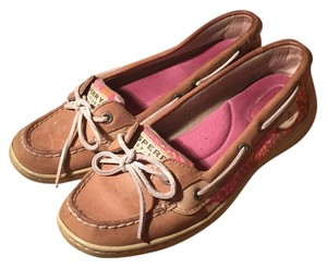 Sperry Pink paisley Flats