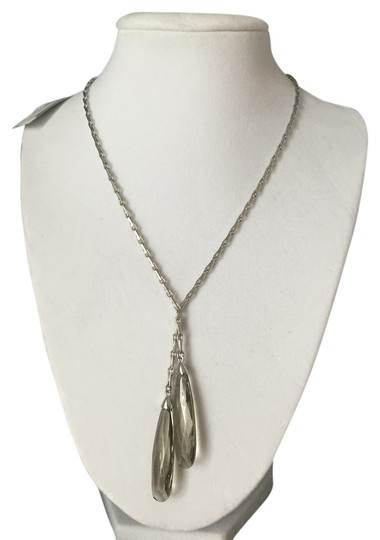 Preload https://item5.tradesy.com/images/anne-klein-silver-new-faceted-glass-teardrops-gray-green-necklace-10443619-0-1.jpg?width=440&height=440