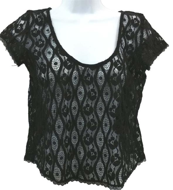 Preload https://item3.tradesy.com/images/black-lace-cropped-s-blouse-size-4-s-10444402-0-1.jpg?width=400&height=650