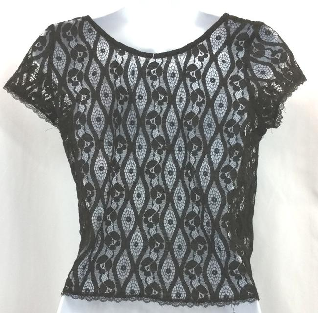 Other Lace Cropped Top BLACK