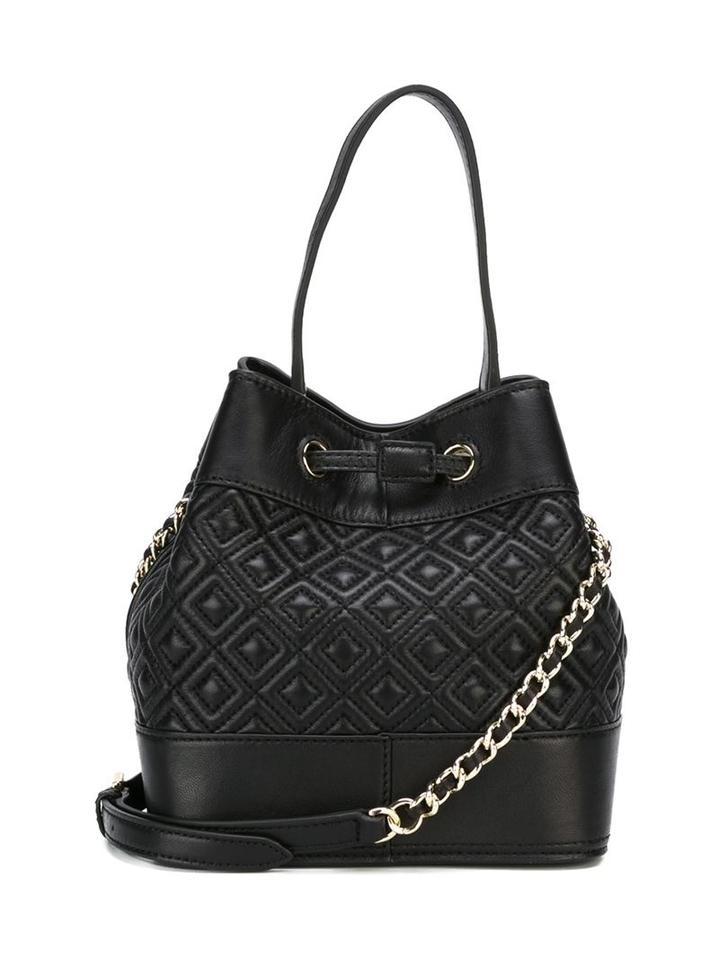 047245c48f3 Tory Burch Marion Quilted Mini Bucket Cross Body Black Leather Shoulder Bag