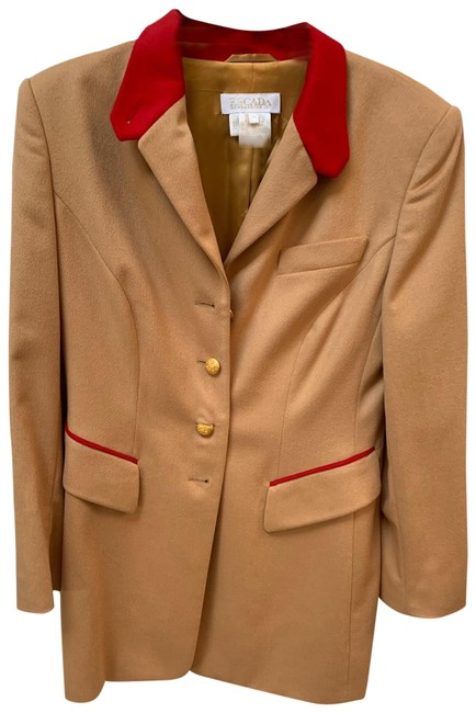 Item - Brown and Red Military Coat Blazer Size 8 (M)