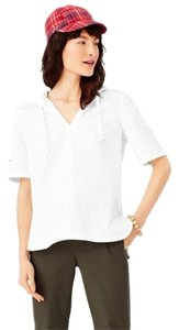 Kate Spade Saturday Poolover With Hood T Shirt White