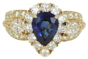 Van Cleef & Arpels Van Cleef & Arpels 18k Yellow Gold Snowflake Diamond Sapphire Ring