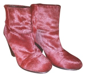 Rag & Bone Burgundy Pony Hair Boots
