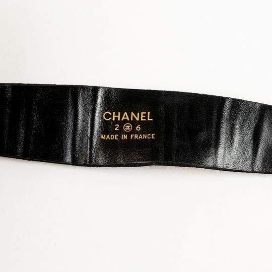 Chanel Chanel Black Silk Collier with Gold Hardware
