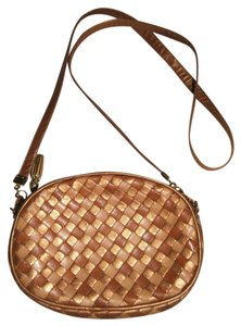 Bottega Veneta Vintage Woven Leather Cross Body Bag