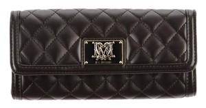 Love Moschino Brand New Love Moschino Brown Puffy Quilted Continental Wallet