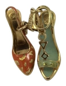 Rosato 14k Gold Charm Charm Ladies Shoes