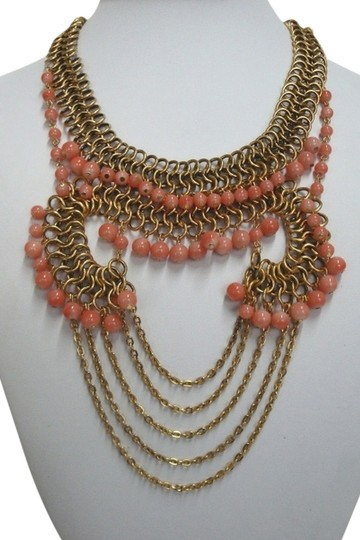 Yochi New York Chain and Bead Statement Necklace
