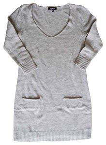 Express short dress Light Grey Sweater Sweater Grey Wool Blend on Tradesy