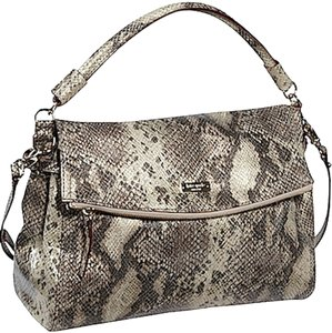 Kate Spade Leather Snakeskin Cross Body Strap Satchel Shoulder Bag