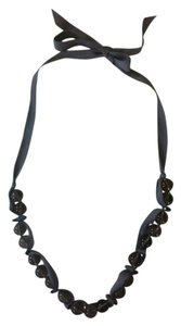 J.Crew Glass Bead Ribbon Necklace