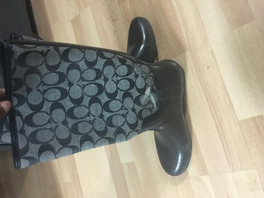 Coach Rainboots Monogram Black Boots