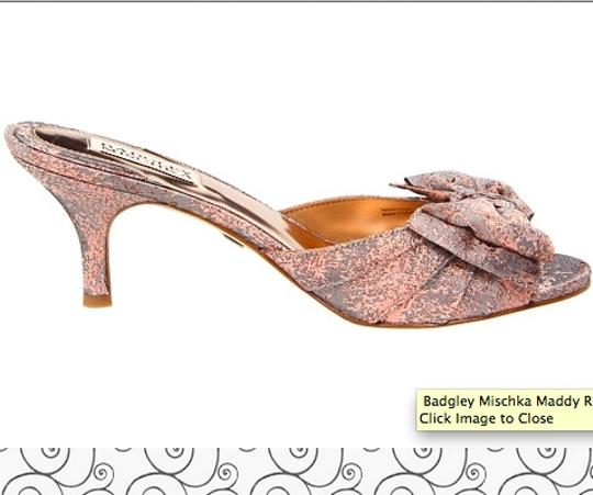 Badgley Mischka Heels Maddy Maddy Slide Rose Gold Pumps
