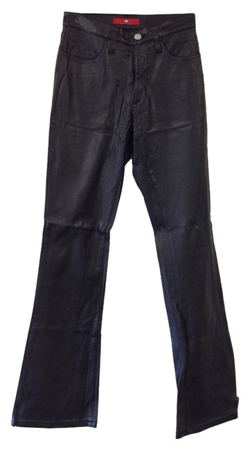 Preload https://item2.tradesy.com/images/black-faux-leather-boot-cut-pants-size-2-xs-26-1044801-0-0.jpg?width=400&height=650