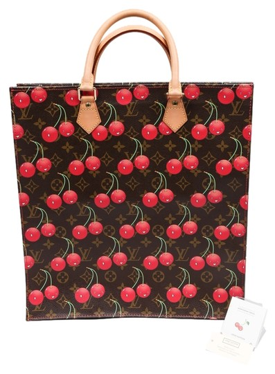 Preload https://item1.tradesy.com/images/louis-vuitton-what-goes-around-comes-aroundcherry-murakami-brownred-canvas-leather-tote-10448470-0-1.jpg?width=440&height=440