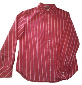 Van Heusen Striped Longsleeve Button Down Shirt Red