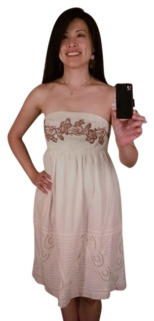 Zehavale short dress Cream Embroidery Anthropologie Summer Spring Elegant on Tradesy