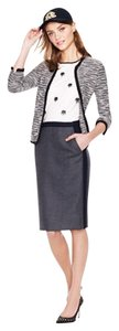 J.Crew No. 2 Pencil Colorblock Wool Skirt Gray/Black Colorblock