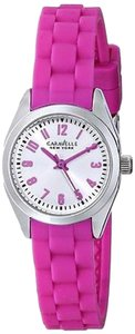 Bulova Caravelle York Pink Silicone Ladies Watch 43l175