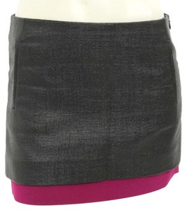 Diane von Furstenberg Mini Skirt Black / Rasberry