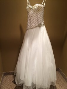 Tony Bowls Ball Gown Beaded Dress