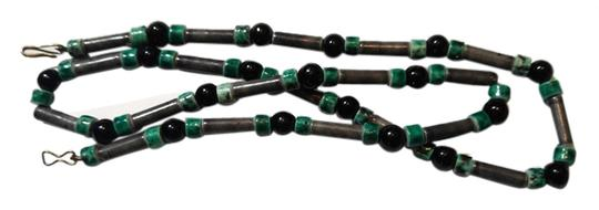 Preload https://img-static.tradesy.com/item/10454242/green-black-and-handmade-hand-painted-ceramic-beaded-a073-necklace-0-1-540-540.jpg