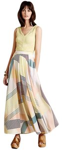 Anthropologie Harlyn Boho Striped Anthro Maxi Skirt Multi