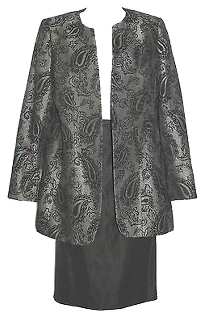 Ellen Tracy LINDA ALLARD ELLEN TRACY 2-PC. DAMASK BLACK SKIRT SUIT 4