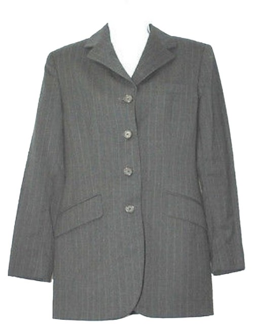 Preload https://item2.tradesy.com/images/ralph-lauren-dark-gray-by-buttoned-stripes-wool-jacket-blazer-size-10-m-10454656-0-1.jpg?width=400&height=650