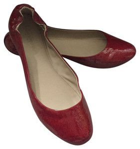 Mossimo Supply Co. Faux Patent Vintage Red Flats