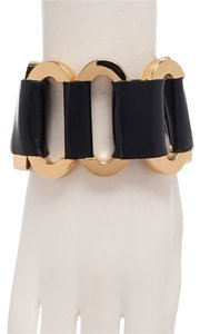 CC SKYE CC SKYE Gatekeeper Bracelet Black 18k gold plated and leather