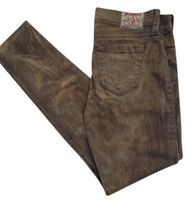 Item - Olive and Tan Skinny Jeans Size 31 (6, M)